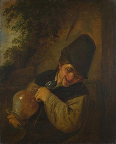 The Perfect Effect Canvas Of Oil Painting 'Adriaen Van Ostade - A Peasant Holding A Jug And A Pipe,about 1650-5' ,size: 16x20 Inch / 41x50 Cm ,this High Resolution Art (Chewbacca Utility Belt Costume)