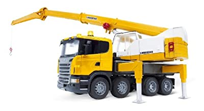 Bruder Scania R-series Liebherr Crane With Lights And Sounds by Bruder