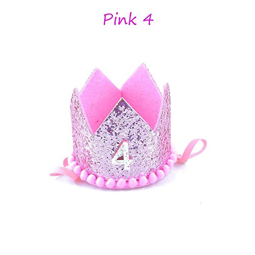 Amapower Hot Kids Favor Princess and Prince Hair Band Gold Number Crown Birthday Hat