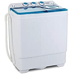 Product Description: Our portable mini washing machine is a good solution for small loads as underwears, socks, Tshirts, and towels. This washer is also lightweighted to be moved around. Easy operation with the control buttons, you just need ...