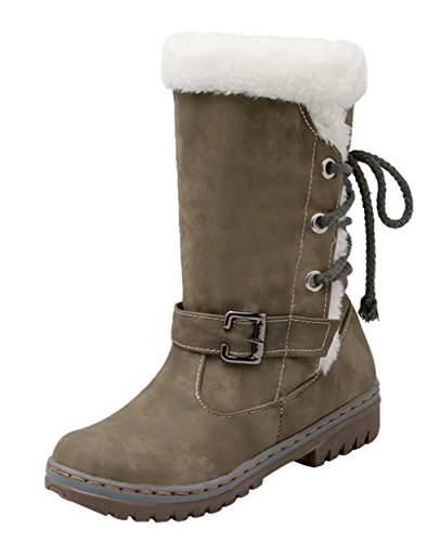 Eozy and Size38 Ladies Warm Boots 5UK Winter ENLARGING Skid Size Anti 5 Snow Boots Green WYBrCqwY