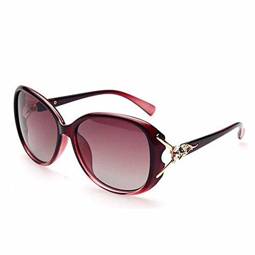 Uv Sol Dama Gafas Vino Negro Solgafas Polarizadas Limotai Rojo De Visor Violeta nfxXqY