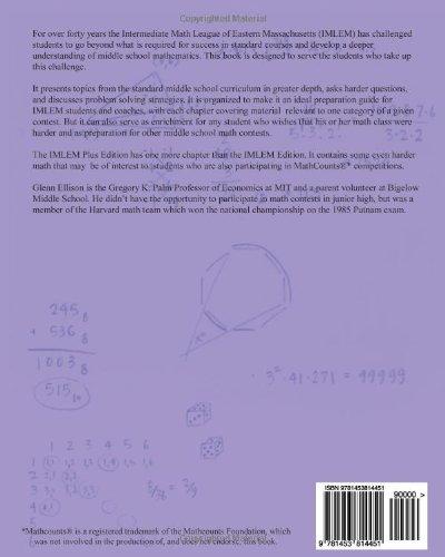 Hard Math for Middle School: IMLEM Plus Edition: Glenn Ellison ...