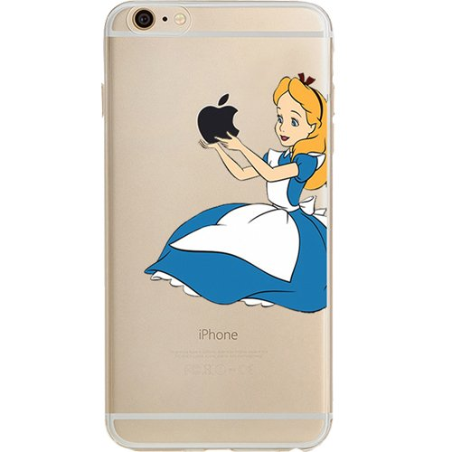 Disney Little Mermaid, Peter Pan, Snow White, Lilo & Stitch, Alice in Wonderland, Aladdin, Mickey & Minnie Mouse, Jelly Clear Case for Apple iPhone 6 PLUS/6s PLUS (5.5