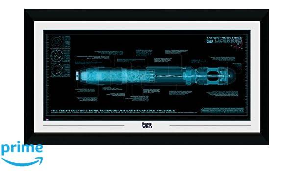 GB eye Doctor Who Destornillador sónico, Enmarcado impresión 50 x ...