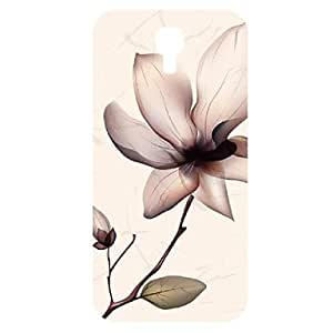 Orchid Pattern 3D Carving Plastic Back Cover for SamSung Galaxy S4 I9500