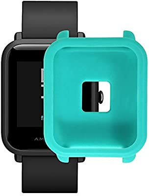 Amazon.com: Soft TPU Protection Silicone Full Case Cover for Huami Amazfit Bip Youth Watch (Mint Green): Cell Phones & Accessories