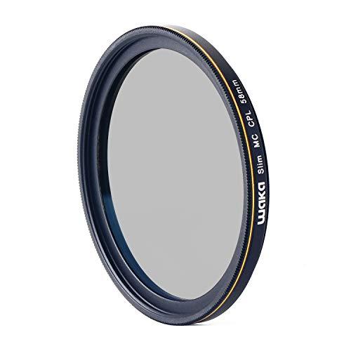 waka 58mm Circular Polarizing Filter, Ultra Slim 16 Layers MRC CPL Glass Polarizer Filter for Canon Nikon Sony DSLR Cameras Lens (Best Polarizing Filter For Canon)