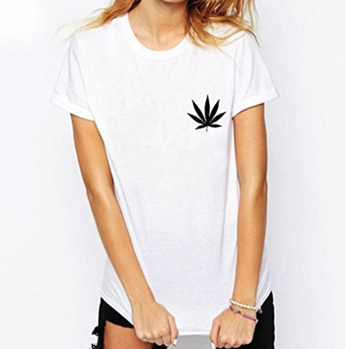 Dolland Unisex Weed Plant T Shirt Marijuana Cannabis Leaf Tee Smokers Shirts Casual Cotton Funny Shirt ,White L