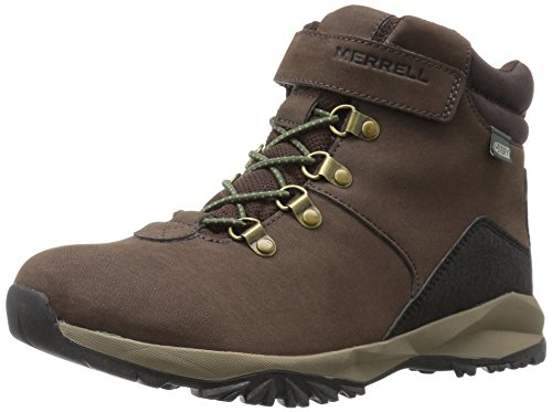 Merrell Alpine Casual Waterproof Snow Boot (Big Kid), Brown, 5 M US Big -