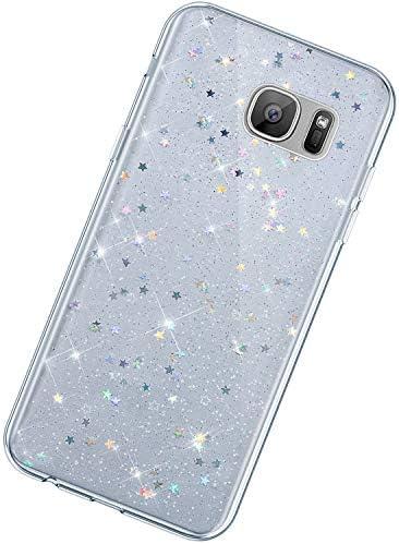 Urhause Kompatibel mit Samsung Galaxy S7,Handyhülle Samsung Galaxy S7,Ultra-Slim Glitzer TPU Bumper Silikon Schutzhülle...