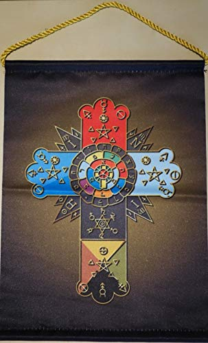 Wizard Clothes Rosicrucian Cross Wimpel (Rose Cross) Color Edition