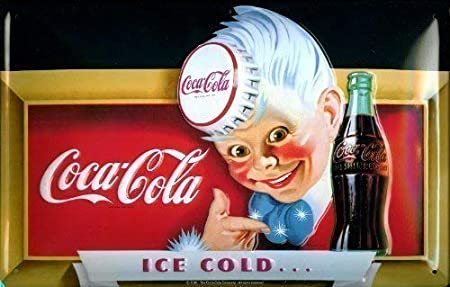 Coca Cola Ice cold Boy Placa De Metal Cartel De Lata 20 x 30 ...