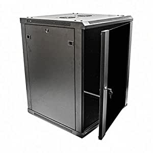 locking wall cabinet navepoint 15u deluxe it wallmount cabinet 22786