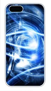 Abstract blue art popular iphone 5 case PC White for Apple iPhone 5/5S