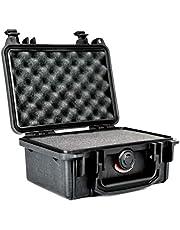 PELI 1120 waterdichte harde camerabehuizing, IP67 waterdicht en stofdicht, 5L capaciteit, gemaakt in de VS, met aanpasbare schuiminlay, zwart