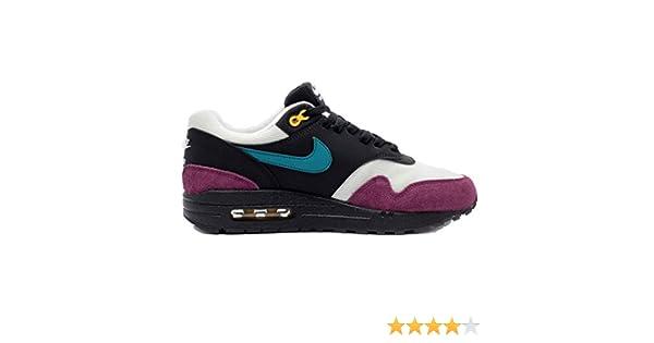 Nike Women's Air Max 1 BlackGeode TealLight SilverBordeaux 319986 040