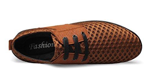 Tda Heren Cool Zomer Ademend Mesh Rijden Wandelen Sneakers Schoenen Bruin