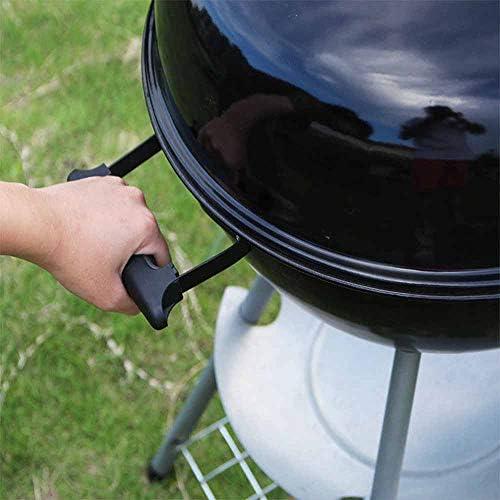 Daniel Barbecue Au Charbon Portable, Barbecue Extérieur, avec Un Couvercle, Gril en Acier Inoxydable Épaissi, Barbecue Pliable pour Fumeur, Nombre Applicable 1-2 Personnes