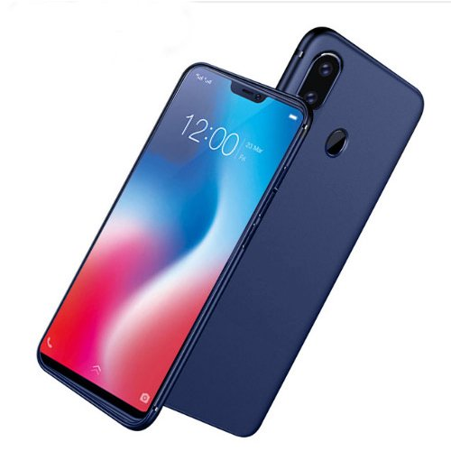 the best attitude c8756 0ec39 Digiprints Sleek Matte Rubberized Back Case Cover For Vivo V9 With All  Sides Protection - Blue