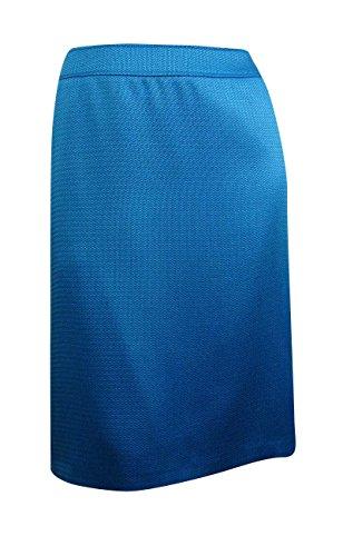 Tahari ASL Womens Plus Virginia Textured Knee-Length Pencil Skirt Blue 14W