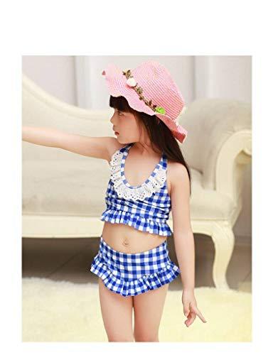 Vestito Ragazze Di Girocollo Bambini Nuoto Beachwear Xiang Casuale Blu Ru Del Bikini Hotspring 5Wa0EnYp