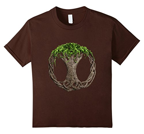 Kids Celtic Knot Tree Of Life T-Shirt 6 Brown