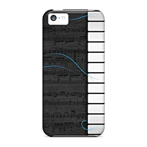 New Tpu Hard Case Premium Iphone 5c Skin Case Cover(muisc Keyboard Tracks)