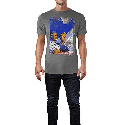 SINUS ART® Father and Son Herren T-Shirts graues Cooles Fun Shirt mit tollen Aufdruck