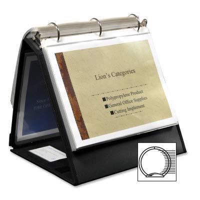 LIO40009BK - Lion Insta-Cover Ring Easel Binder -