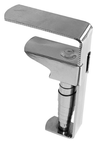 Fackelmann 14473 4x Profi-Tischtuchklammer, vernickelter Stahl