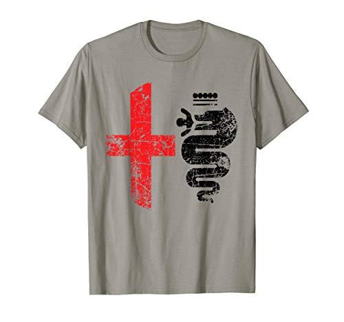 (Alfa Car Drivers Stylish Grunge Light Color Logo T-shirt)