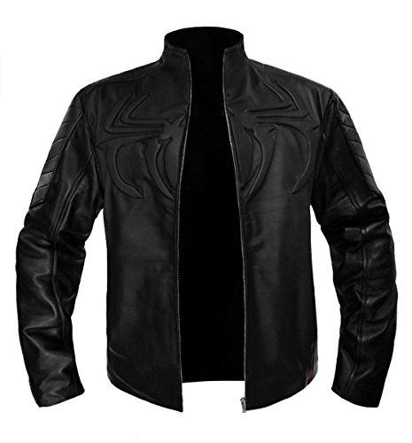 luvsecretlingerie The Amazing Spider Man Men's Stylish Faux Leather Biker Bomber Costume Jacket #523-FL -