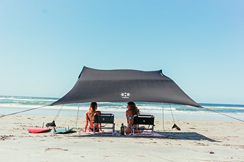 Neso Tents Grande Beach Tent, 7ft Tall, 9 x 9ft, Reinforced Corners and Cooler Pocket(Black)