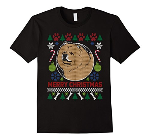 Men's Chow Chow Dog Breed Owners Ugly Christmas T-shirt