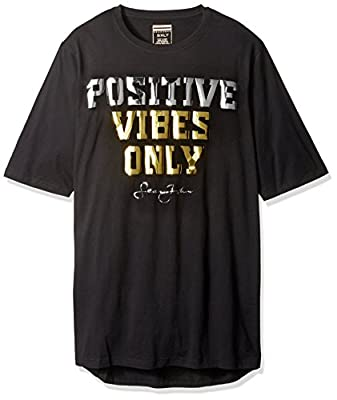 Sean John Men's Big and Tall Short Sleeve Positive Vibes Only Tee