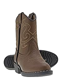 Canyon Trails Kids Lil Cowboy Pointed Toe Classic Western Rodeo Boots (Toddle.