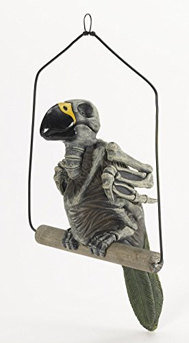 Haunted Skeleton Parrot on Perch Prop (Wretched Animated Prop)