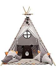 IZABELL TIPi-tent, kindertent, kamertent, TIPI-speeltuintent, buitentent,tent voor kinderen,(bruin)