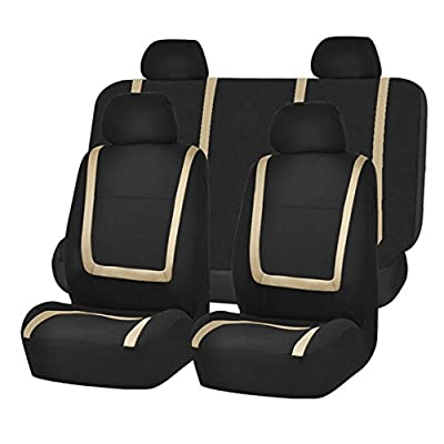 FH Group FH-FB032115 Unique Flat Cloth Seat Covers- Fit Most Car, Truck, SUV, or Van