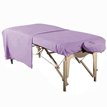 Greenlife Flannel Face Rest Cover Cradle Sheet & Massage Table Cover (SHEET-Set, Natural)