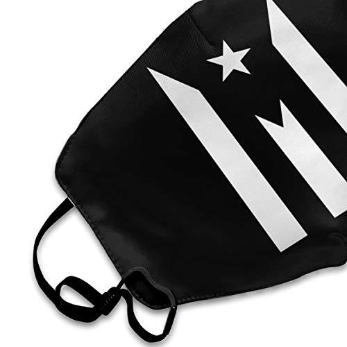 Puerto Rico Resiste Boricua Flag Se Levanta Mouth Mask,Anti Dust Face Mask,Washable Reusable Mouth Cover Masks White