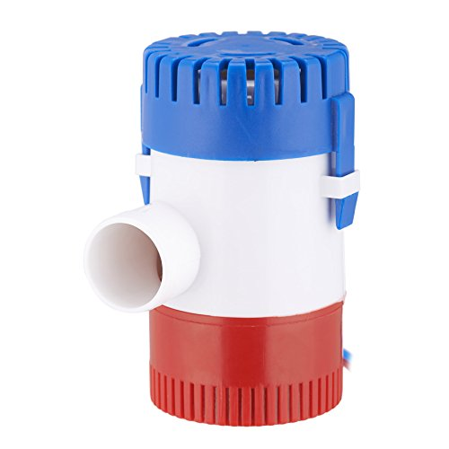 CO-Z Submersible Bilge Pump 1100 GPH 12V 3.0A, 1-1/8