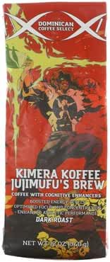 Kimera Koffee Jujimufu's Brew - Nootropic Infused Ground Coffee - Dark Roast Single Estate (12oz)
