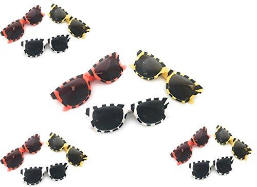 Oojami Assortment Animal Print Sunglasses (1 Dozen), Multicolor