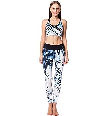 CALYPSO Women's Yoga Wear; Sports Bra Leggings Set / Bra Shorts Tank Top Set; 9 Colors