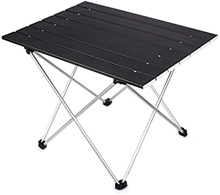 Mini Negro Portatiles Plegable Mesa para Camping en Aluminio con ...