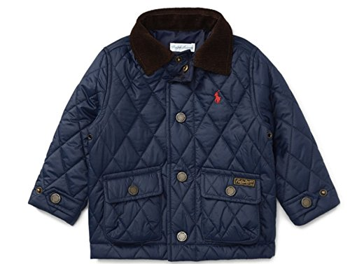 RALPH LAUREN Baby Boys' Quilted Barn Jacket Size 6 Months (French (Baby Boy Corduroy Jacket)
