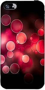 Snoogg Red Burbujas Diseñador Protectora Volver Funda Para El Iphone 5C