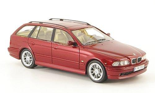 BMW 520i Touring Neo 1:43 Fertigmodell met.-dkl.-rot E39 Modellauto 2002